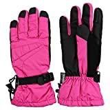 Damen Thinsulate gefüttert wasserdicht Ski/Snowboard Handschuh, Pink