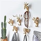 KGDUYH Engánchate Pared de Cabeza de Animal Hanging Porche Llave de la Puerta Cabeza de Ciervo Percha Gancho for Coat (Color : B White (Elephant))