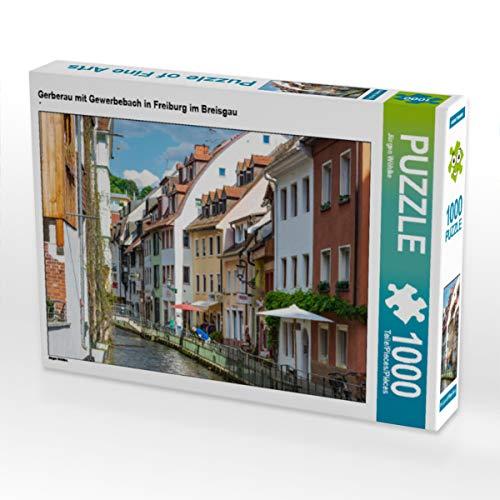 CALVENDO Puzzle Gerberau mit Gewerbebach in Freiburg im Breisgau 1000 Teile Lege-Größe 64 x 48 cm Foto-Puzzle Bild von Jürgen Wöhlke