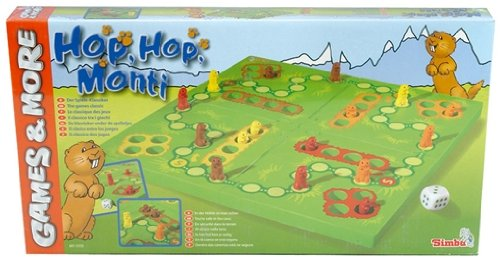 Simba 106015555 - Games and More, Brettspiel, Hop-Hop-Monti