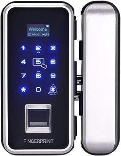 SUNTAI Electronic Smart Glass Door Lock, Security Biometric Fingerprint and Touchscreen Key Less, Digital Anti-peep Password Door Lock and RFID Cards Entry