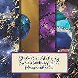 Galactic Alchemy scrapbooking kit sheets: Scrapbooking paper in a book for creating your own sketchbooks - Emphera elements for decoupage, ... to collect and develop scrap book albums