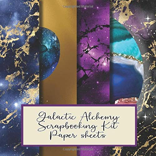 Compare Textbook Prices for Galactic Alchemy scrapbooking kit sheets: Scrapbooking paper in a book for creating your own sketchbooks -  Emphera elements for decoupage, ... to collect and develop scrap book albums  ISBN 9798618472746 by Scrapbooking  and mixed media journals