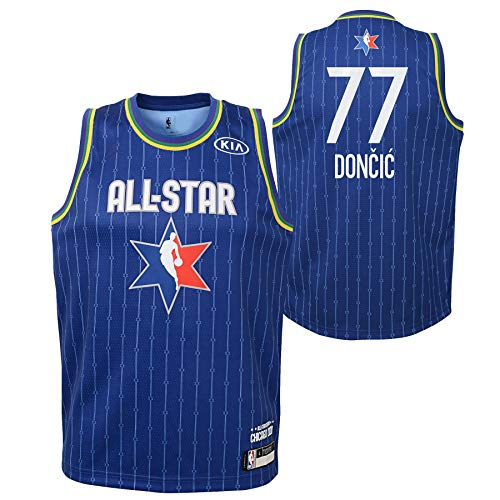 Youth 2020 NBA All-Star Game Luka Doncic Blue Swingman Jersey Youth Sizes (Youth Medium (10/12))