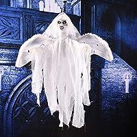 HHM 林飛ぶ幽霊怖い音とハロウィーンの装飾のための移動(黒) ( Color : White )