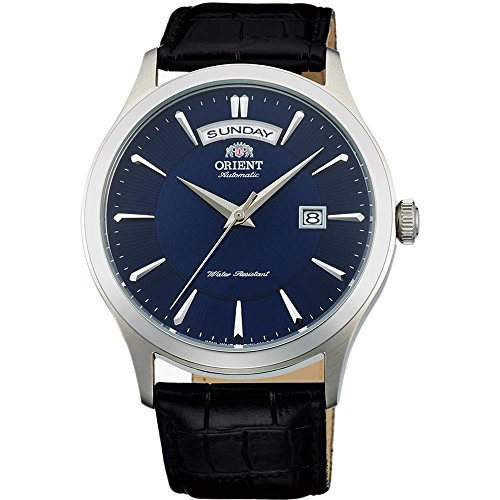 Orient Men's Classic 40mm Leather Band Steel Case Automatic Watch...
