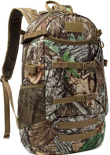 AIRTTUZ Hunting Backpack Outdoor Daypack Hunting Pack for Men with Rain Cover. (Camo-2)