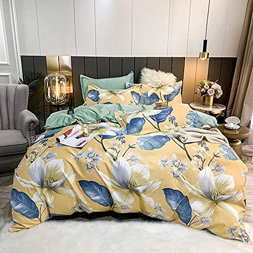 set copripiumino matrimoniali completo king-Lettiera di seta primavera ed estate quattro set, fornendo una bella decorazione per la tua camera da letto, la camera, l'hotel e la famiglia.-Volare_1,8 m