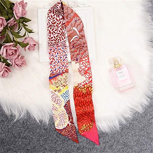 ZCY Chales Flaco Bufanda De Seda Bolsa For Mujeres Ciervos del Cabezal Impresión De Bufanda Mango Largo Bolsa Bufandas Wraps Envío De Gota Fulares (Color : D)