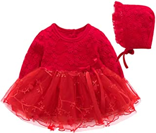 99ce7b60c GoodLock Baby Girls Dresses Toddler Infant Kids Autumn Party Lace Tutu  Princess Dress Hats Clothes Outfits