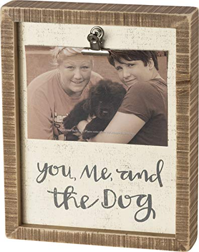 Primitives by Kathy Inset Box Photo Frame, You, Me, and The Dog