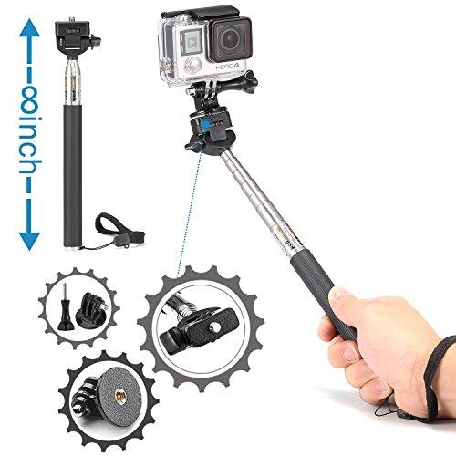 Luxebell Sport camera Accessories Kit for Gopro Hero 5 4 3+ 3 2 1, Action camera Sjcam AKASO WiMiUS Campark Lightdow DBPower VicTsing Aokon (8-in-1)