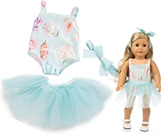 yijing Doll Clothes Outfits Set,Beautiful Yarn Dancing Dress for 18 Inch American Toy Girl,Best Gift for Girl Boy Baby (Light Blue)