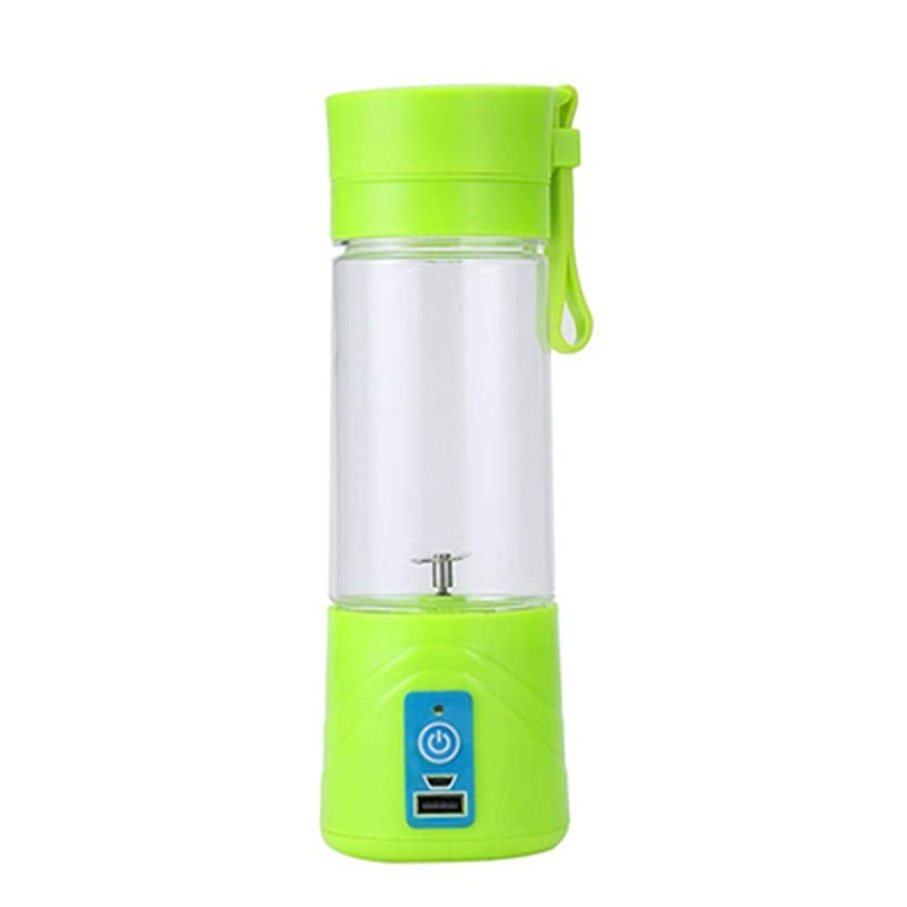 new fashion and high quality Portable Juicer Cup Rechargeable Battery Juice Blender 380ml USB Juicer,light green
