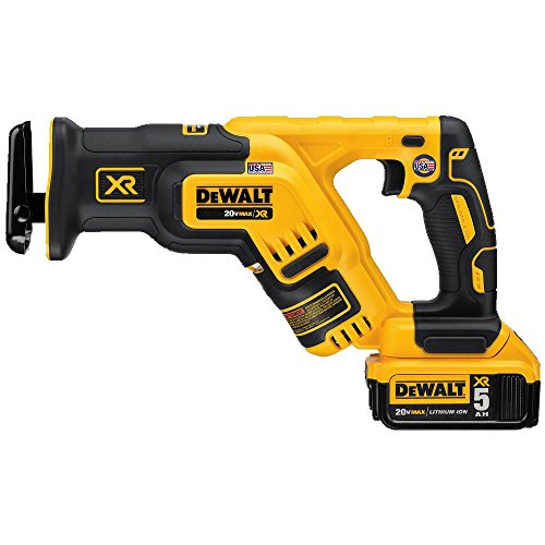 DEWALT 20V MAX XR Compact Reciprocating Saw, 5.0-Amp Hour (DCS367P1)