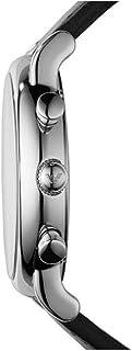 ساعة امبوريو ارماني بسوار جلدي ومينا اسود للرجال - AR1828
