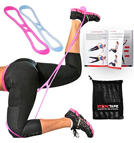 Starktape Booty Resistance Bands Belt System. Fitness Band Set, Glute Exercise, Hip Loop Bands. Brazilian Butt Lift and Muscles Booty Workout - Legs Women Training