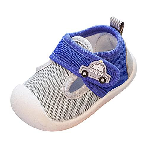 Baby Lauflernschuhe Kinder Flache Hausschuhe Kleinkindschuhe Jungen Mädchen Atmungsaktive rutschfest Mesh-Schuhe für Kinder, Sportschuhe Laufen Sportschuhe Turnschuhe Walker Anti-Rutsch Weich Sohle