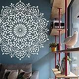 130cm Huge Giant Mandala Indian Arabic Ethnic Round Stencil Per Pareti Modello Grande Sten...