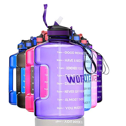 ETDW Gallon Water Bottle with Straw Cleaning Brush, 3.78Litre Large Water...