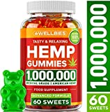 Premium Hemp Gummies - Natural Hemp - Made in USA - King Size 1,000,000 - Boost Memory Function, Improved Sleep, Support Good Mood - Fast Results - Vitamins B, E, Omega 3, 6, 9