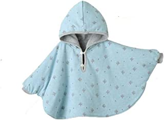 Winter Warm Double-Side Wear Hood Cape Poncho Coat for Toddler Baby Girs Boys