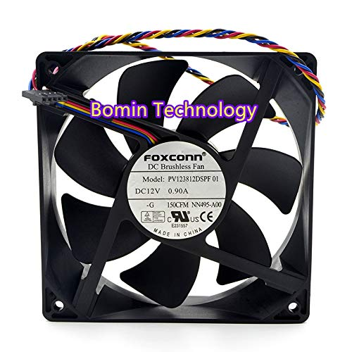Bomin Technology for FOXCONN PV123812DSPF01 12V 0.90A 4-Wire 12CM PMW Speed Control Fan