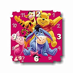 MAGIC WALL CLOCK FOR DISNEY FANS Winnie The Pooh 11'' Handmade Made of Acrylic Glass - Get Unique décor for Home or Office – Best Gift Ideas for Kids, Friends, Parents and Your Soul Mates