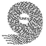 Di Ficchiano Flache SCHNÜRSENKEL für Sneaker und Sportschuhe Twist-White/d.grey-90