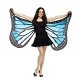 MRULIC Damen Faschings Kostüm Karneval Kostüme Kinder Schmetterlingsflügel Butterfly Wing Cape Kimono Schal Tuch