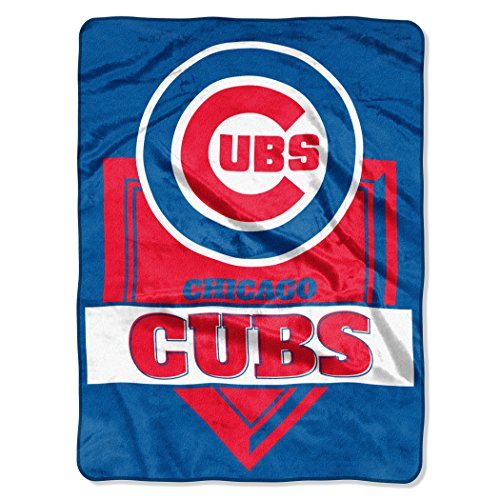 Northwest MLB Chicago Cubs Royal Plush Raschel Throw, One Size, Multicolor