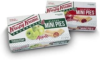 Krispy Kreme Glazed Mini Pies - 6 20z Glazed Mini Pies Per Box - Two Boxes: Cherry and Apple