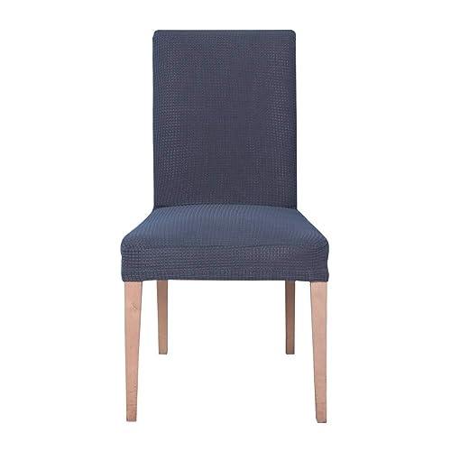 Ebeta 6 pièces housse de chaise Housse de chaise Décor Stretch-Housse Couverture de chaise de matériau spandex avec bande élastique pour un ajustement