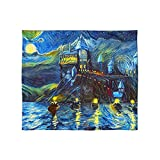 Westlake Starry Night Fleece Blanket for Baby Girl or Boy Toddlers Soft Warm Cozy Newborn Stroller Travel Decorative Machine Washable Van Gogh Style - 30x40 inch