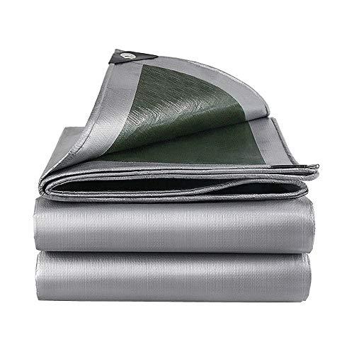 JWC Lona de Polietileno Verde Plateado, Lonas Multiusos, Lona Gruesa de Alta Resistencia, Liviana y Duradera con protección UV, para Autos de Camping al Aire Libre, 16.40 × 26.24 pies