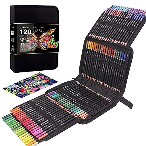 Juego de 120 lápices de colores para adultos, perfecto para dibujar, esbozar,...