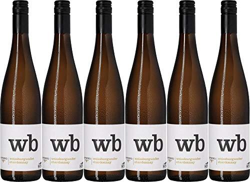 6x Thomas Hensel Aufwind Weißburgunder & Chardonnay 2019 - Weingut Thomas Hensel, Pfalz - Weißwein