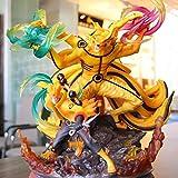 Anime Nartuo Super Huge Nine Tailed Fox Shippuden Uzumaki Naruto Kurama Pvc Figura De Acción Modelo ...