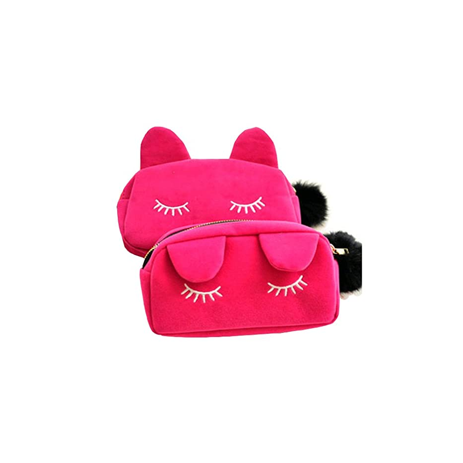 死ぬパーセントわずかににゃんこ 猫 化粧道具大容量 化粧品バッグ 化粧品収納バッグ ハンドバッグ 可愛い小物収納 コインポーチ マスホポーチ 女子中学生 女子高校生 に 人気 お手入れ道具入り
