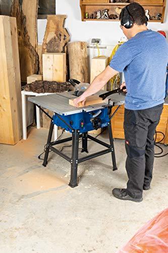 Scheppach Tischkreissäge 250-er Set, 230 V, 2000 W mit 2 Tischverbreitungen und Untergestell, HS100STVB - 6