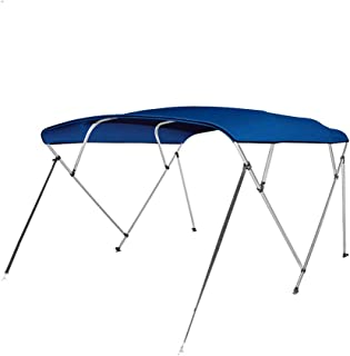Seamander 3-4 Bow Bimini Boat Top Cover,Boat Accessories,Boat Canopy with Mounting Hardware, Rear Support Pole with Storage Boot