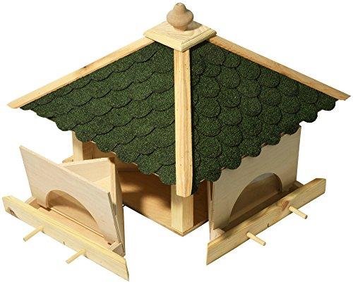 Luxus-Vogelhaus 98700e Großes XXL Vogelhaus aus Holz (Kiefer) für Garten, Balkon, mit 4 herausziehbaren Futterschubladen - XL Vogelhäuschen Vogelfutterhaus