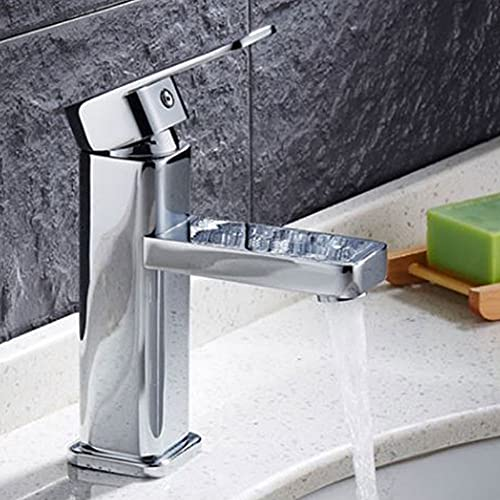 AllRight Badarmatur Wasserhahn Waschtischarmatur Einhandmischer hoch Bad Küche Armatur - 6