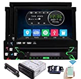 Eincar Single Din Car Stereo Bluetooth Car DVD Player Touchscreen Radio 7 Inch Detachable Panel Vehicle Headunit Free 8GB GPS Map Card Backup Camera Autoradio Receiver CD Aux subwoofer RDS