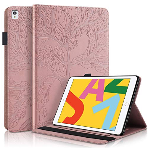 Blllue Case for iPad 10.2 inch 2020/2019 Released (8th Gen/7th Gen), Life Tree Slim Folio Stand Tablet Cover for iPad Air 3rd Gen 2019 release, Rosegold