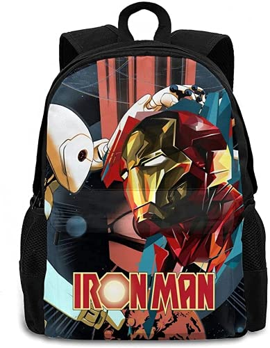 Mochila de Iron Man, mochila anime, correa de hombro ajustable, mochila escolar para niños, cómoda, impresión digital 3D, (14,13 pulgadas (guardería)