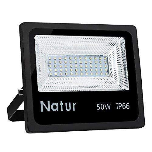 100W Foco led exterior,Led Proyector para Exterior Iluminación Decoración alto brillo 10000LM IP66,6000K,luz led para Jardín, Garaje, Bodega y Patio [Clase de eficiencia energética A++]