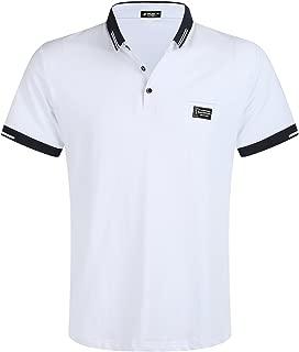 Short Sleeve Polo Shirt Regular-Fit Cotton Golf Polo Shirts