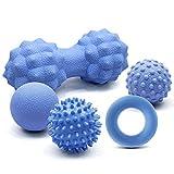 Airsnigi Massageball 5er Set, Igelball Triggerpunkt Massage Faszienball Lacrosse Ball, Massagebälle für Rücken, Beine, Füße & Hände Muskelmassage, Linderung von Muskelkater