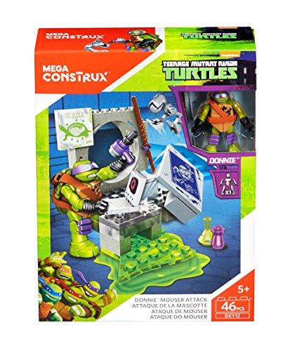 Mega Bloks- Turtles Scatola Costruzioni 2ass, Multicolore, DXY12